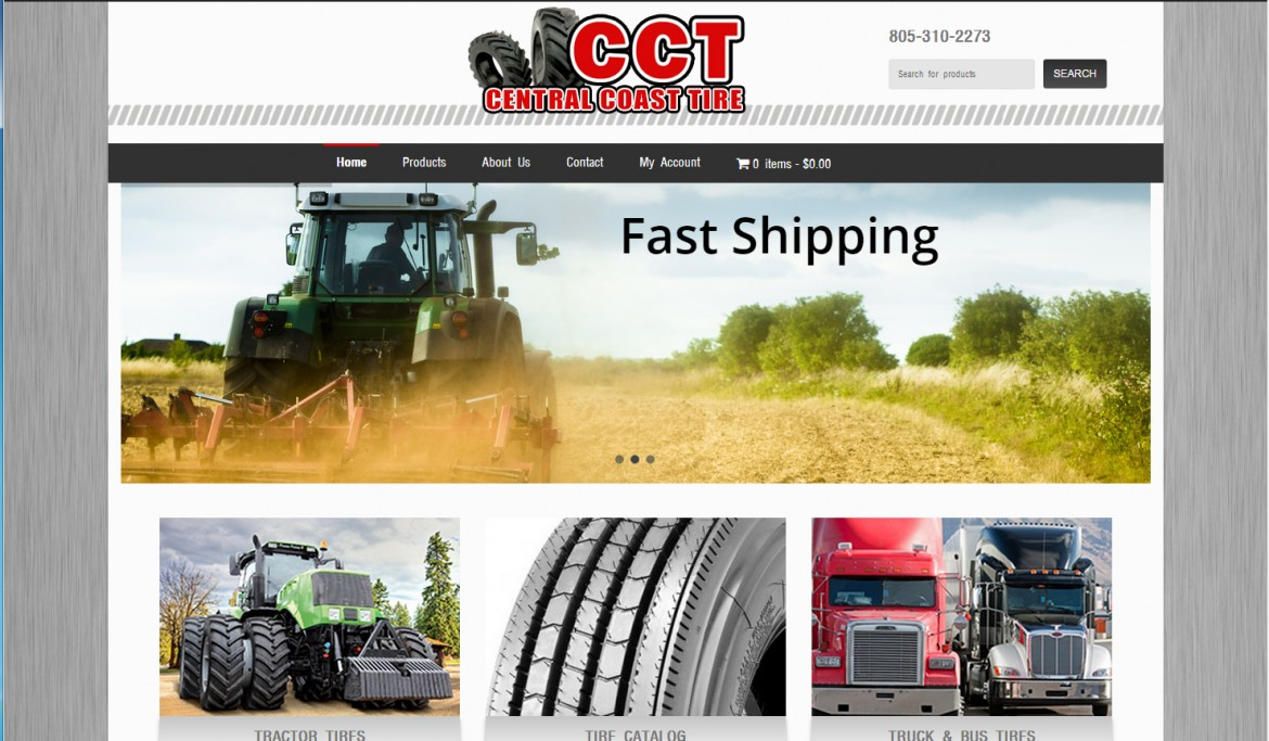 Central Coast Tire Website Development