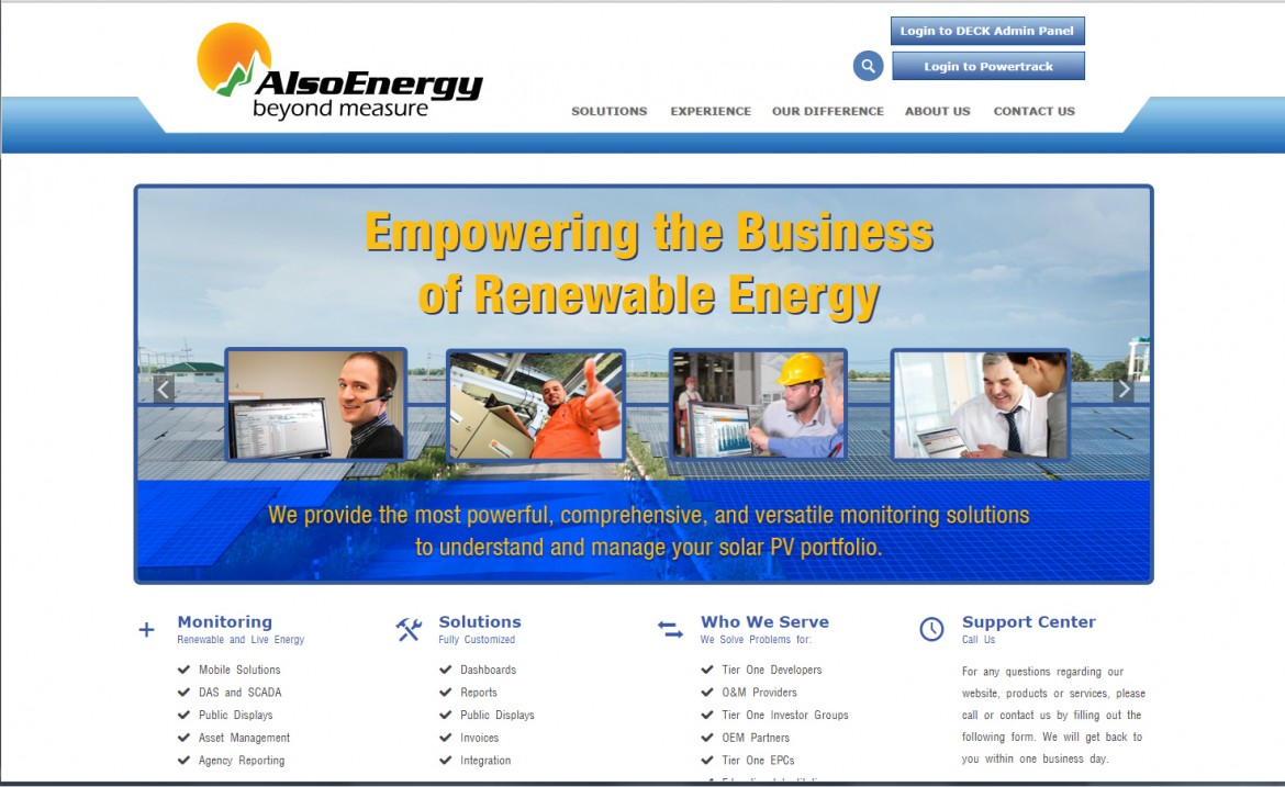 AlsoEnergy Website Development
